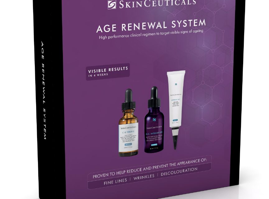 New retail skin kits from skinceuticals targeting ageing and blemish prone skin