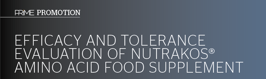 EFFICACY AND TOLERANCE EVALUATION OF NUTRAKOS® AMINO ACID FOOD SUPPLEMENT